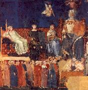 Ambrogio Lorenzetti Allegory of Good Government oil painting
