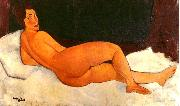 Amedeo Modigliani Nude, Looking Over Her Right Shoulder oil painting