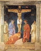 Andrea del Castagno Crucifixion and Saints oil painting