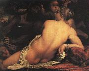 Annibale Carracci Venus with Satyr and Cupid oil painting