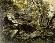 Asher Brown Durand Study from Rocks and Trees oil painting