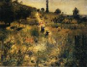 Auguste renoir Road Rising into Deep Grass oil painting