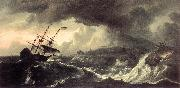BACKHUYSEN, Ludolf Ships Running Aground in a Storm  hh oil painting