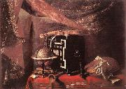 BASCHENIS, Evaristo Still-life with Instruments ll oil painting