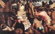 BASSANO, Jacopo Adoration of the Shepherds ss oil painting