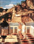 BELLINI, Giovanni Sacred Allegory (detail) dfgjik oil painting reproduction