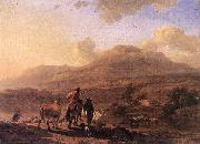 BERCHEM, Nicolaes Italian Landscape at Sunset oil painting