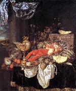 BEYEREN, Abraham van Large Still-life with Lobster oil painting