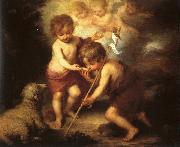 Bartolome Esteban Murillo The Holy Children with a Shell oil painting
