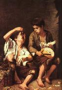 Bartolome Esteban Murillo Boys Eating Fruit oil painting
