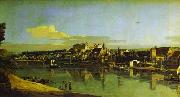 Bernardo Bellotto Pirna Seen from the Right Bank of the Elbe oil painting reproduction