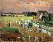 Berthe Morisot Hanging Out the Laundry to Dry oil painting