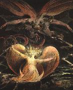 Blake, William The Great Red Dragon and the Woman Clothed with the Sun oil painting