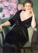 Boris Kustodiev Renee Notgaft oil painting