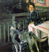 Boris Kustodiev Julia Kustodieva oil painting