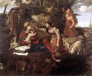 CAROSELLI, Angelo Rest on the Flight into Egypt dfg oil painting