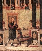 CARPACCIO, Vittore The Daughter of of Emperor Gordian is Exorcised by St Triphun (detail) dfg oil painting reproduction
