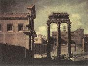 CODAZZI, Viviano Rome, the Campo Vaccino Looking toward the Capitoline d oil painting