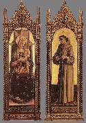 CRIVELLI, Carlo Madonna and Child; St Francis of Assisi dfg oil painting