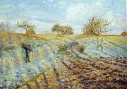 Camille Pissaro Hoarfrost oil painting reproduction