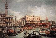 Canaletto The Bucintore Returning to the Molo on Ascension Day oil painting reproduction