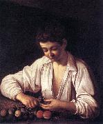 Caravaggio Boy Peeling a Fruit df oil painting