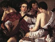 Caravaggio The Musicians f oil painting reproduction