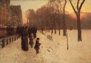 Childe Hassam Boston Common at Twilight oil painting
