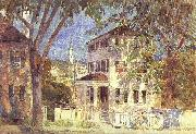 Childe Hassam Street in Portsmouth oil painting