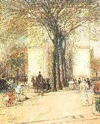 Childe Hassam Washington Arch in Spring oil painting