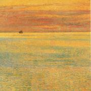 Childe Hassam Sunset at Sea oil painting