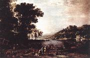 Claude Lorrain Landscape with Merchants sdfg oil painting reproduction