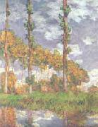 Claude Monet Poplars at Giverny oil painting reproduction