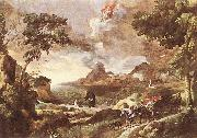 DUGHET, Gaspard Landscape with St Augustine and the Mystery dfg oil painting reproduction