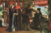 Dante Gabriel Rossetti The First Anniversary of the Death of Beatrice oil painting reproduction