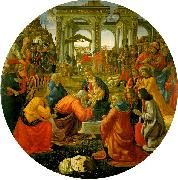 Domenico Ghirlandaio The Adoration of the Magi  aa oil painting