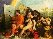 Dosso Dossi Jupiter, Mercury and Virtue oil painting