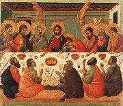 Duccio di Buoninsegna The Last Supper00 oil painting reproduction