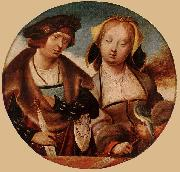 ENGELBRECHTSZ., Cornelis St Cecilia and her Fiance sdf oil painting