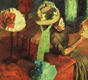 Edgar Degas The Millinery Shop oil painting reproduction