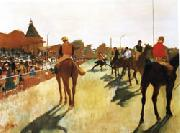 Edgar Degas Race Horses before the Stands oil painting reproduction