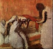 Edgar Degas Seated Woman Having her Hair Combed oil painting reproduction