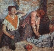 Edgar Degas Laundry Maids oil painting reproduction