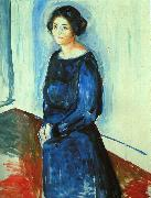 Edvard Munch Woman in Blue oil painting