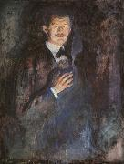 Edvard Munch Self Portrait with a Burning Cigarette oil painting