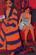 Ernst Ludwig Kirchner Self Portrait with Model oil painting