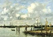 Eugene Boudin Lameuse a Rotterdam oil painting reproduction