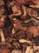 FLORIS, Frans The Fall of the Rebellious Angels (detail) dg oil painting