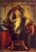 Fra Bartolommeo Resurrected Christ with Saints oil painting