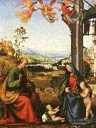 Fra Bartolommeo The Holy Family with the Infant St. John in a Landscape oil painting